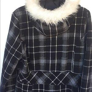 Dollhouse Plaid Coat w/faux fur hood. So c…
